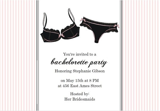 Bachelorette Party Ideas – Bachelor Party Email Invite
