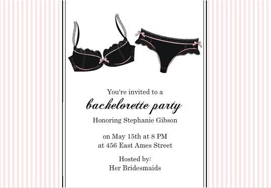 Ooo La La Lingerie Bachelorette Party Wedding Ideas Tips Wordings