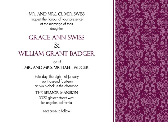 elegant wedding invitations wedding invitation wording examples etiquette - Adults Only Wedding Invitation Wording