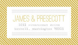 Beautiful Modern Statement Typography Wedding Address Label